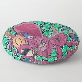 Kuniyoshi Musical Octopus with Bishamon Kikko Background Floor Pillow