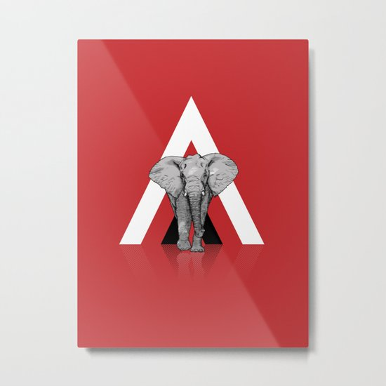 Because I Can't Forget - RED Metal Print