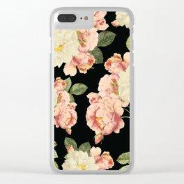 Flora temptation - night Clear iPhone Case