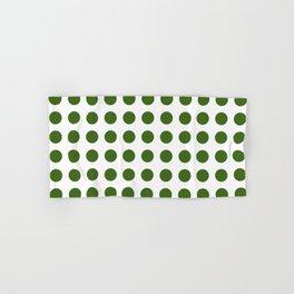 Simply Polka Dots in Jungle Green Hand & Bath Towel