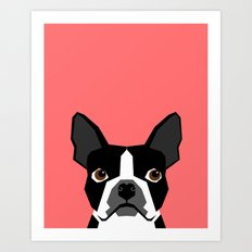 Kennedy - Boston Terrier cute dog themed gifts for small dog owners and Boston Terrier gifts  Art Print
