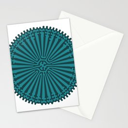 Reaction Diffusion Ornament (Green) Stationery Cards