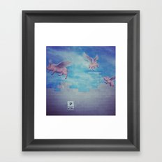 pigs can fly Framed Art Print