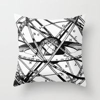 astronomy Throw Pillows featuring Astronomy Instrument by Maioriz Home