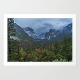 Yosemite Tunnel View Art Print