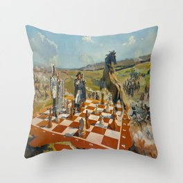 """""""Battle of Borodino or White Start and Win in Three Moves"""" Throw Pillow"""