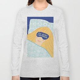 Sleepy Head & Evil Eye #illustration Long Sleeve T-shirt