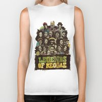 reggae Biker Tanks featuring Legends of Reggae Poster by Panda