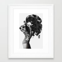 bear Framed Art Prints featuring Bear #2 by Jenny Liz Rome