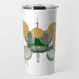Green Drum Kit Travel Mug