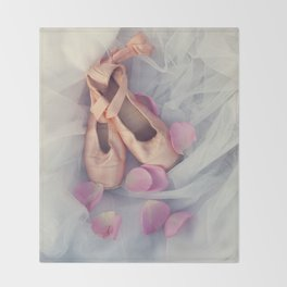 Ballet Shoes Throw Blanket