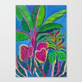 Banana Plant Print Canvas Print