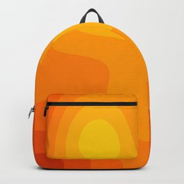 Abstract Yellow To Orange Liquid Backpack
