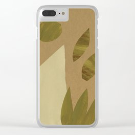 Dune And Leaves Clear iPhone Case