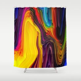Melting Pot of Colors Abstract Shower Curtain