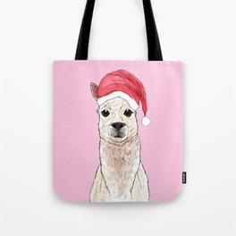 Santa Llama Tote Bag