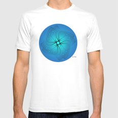 Fleuron Composition No. 129 White Mens Fitted Tee MEDIUM
