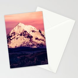 Mt Hood Mountain with Snow Stationery Cards