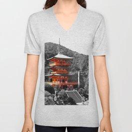 Seiganto-ji Temple: Kumano Kodo,Wakayama, Japan Unisex V-Neck