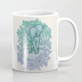 Emerald Elephant in the Lilac Evening Coffee Mug