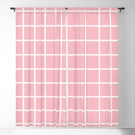 Coral Grid Pattern 2 Blackout Curtain