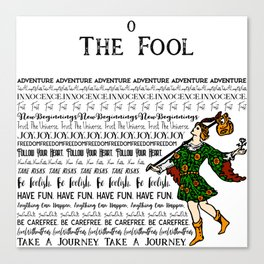The Fool - A Tarot Design Canvas Print