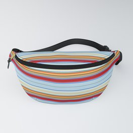 Gradient Colorful Stripe Pattern Fanny Pack