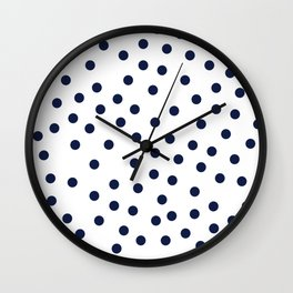 Simply Dots in Nautical Navy Wall Clock