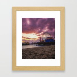 Santa Monica Pier 2 Framed Art Print
