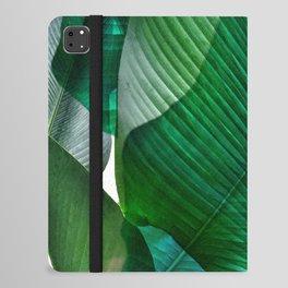 Palm leaf jungle Bali banana palm frond greens iPad Folio Case