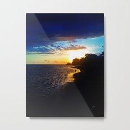 Atardecer en el Caribe / Sunset in the Caribbean Metal Print