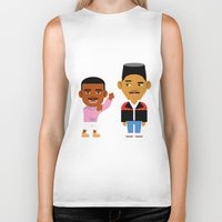 fresh prince Biker Tanks featuring The Fresh Prince (Version 2) by Evan Gaskin
