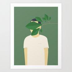 EN SMUK DAG I SKOVEN Art Print