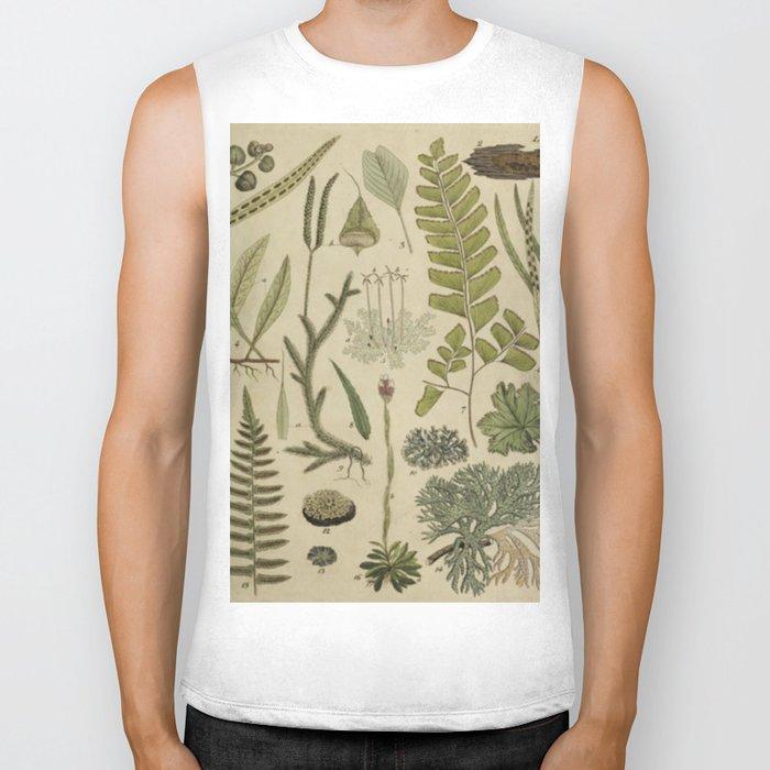Ferns And Mosses Biker Tank