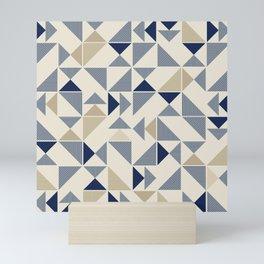 Zigzag Triangles Mini Art Print