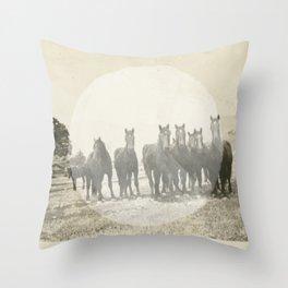Band of Horses - White Throw Pillow