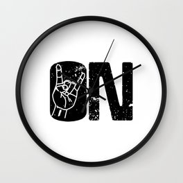 Let's Rock On Wall Clock