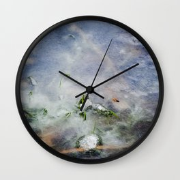 frozen lakes Wall Clock