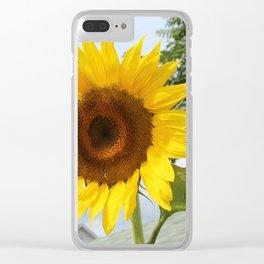 une seule fleur Clear iPhone Case