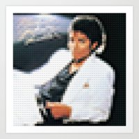 Thriller - Legobricks Art Print