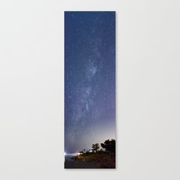 The Milky Way Among the Ruins Canvas Print