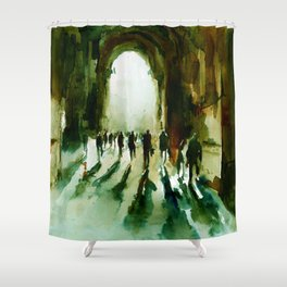 without an end or a beginning  Shower Curtain