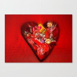 Heart Of Chocolate Canvas Print