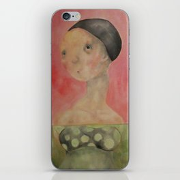 Pink Lady Swiming iPhone Skin