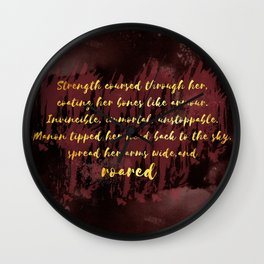 Manon Roared Wall Clock