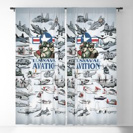 Naval Aviation Cartoon Poster Blackout Curtain