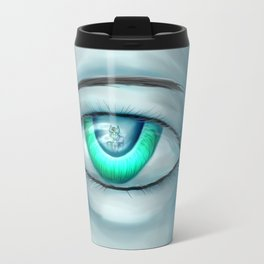 hiding emotion Travel Mug