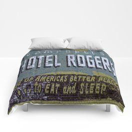 Idaho Falls - Vintage Hotel Rogers Better Place To Eat And Sleep Comforters