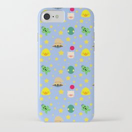 final fantasy pattern blue iPhone Case