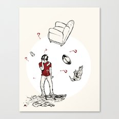 The Breakup Canvas Print